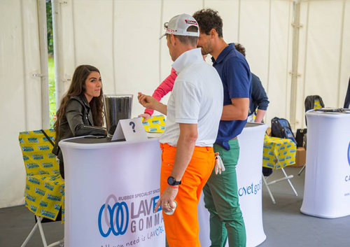 Banchetti promozionali per gare di golf