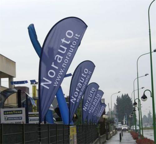 Bandiere pubblicitarie a goccia