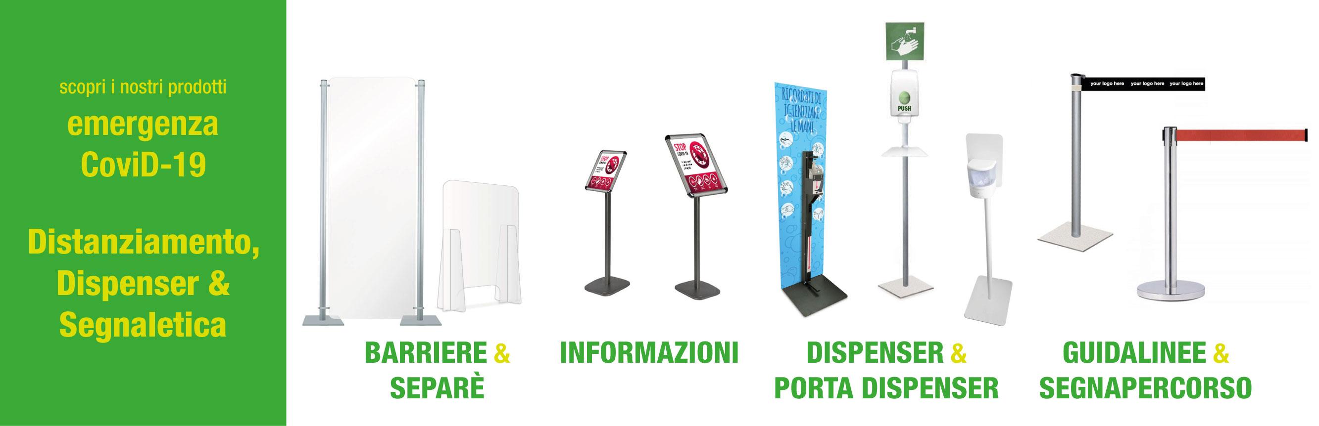 barriere segnapercorso piantane accessoriate e informazioni
