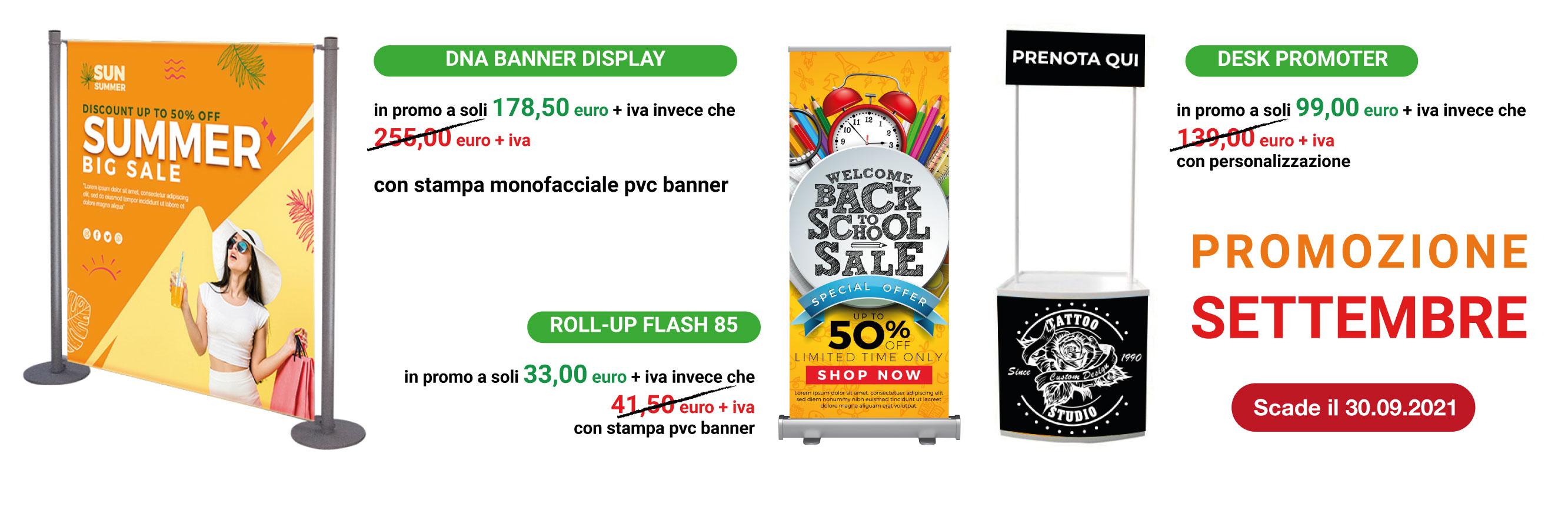 banner display e desk promoter in promozione