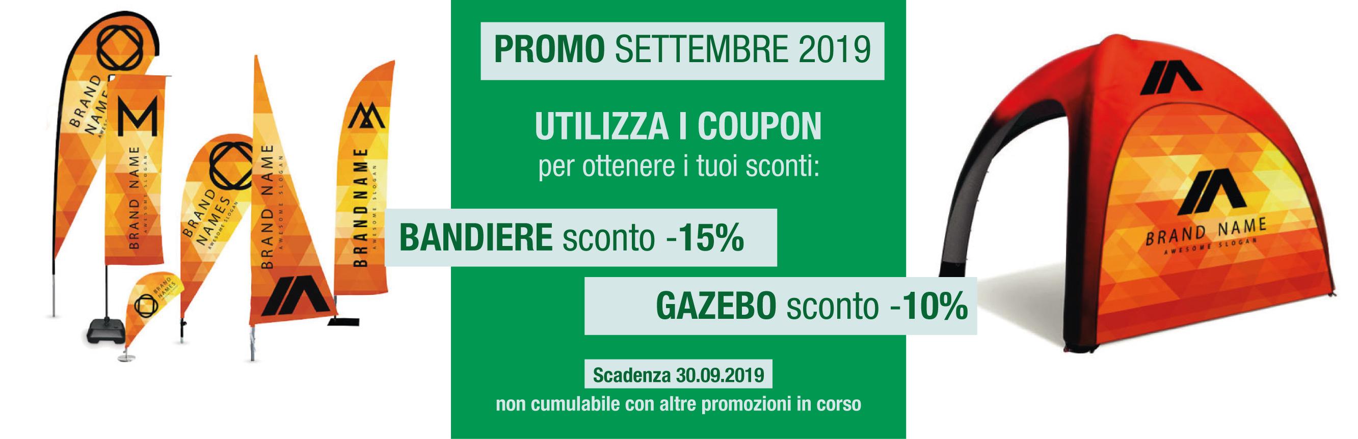 promozione settembre 2019 bandiere e gazebo gonfiabile
