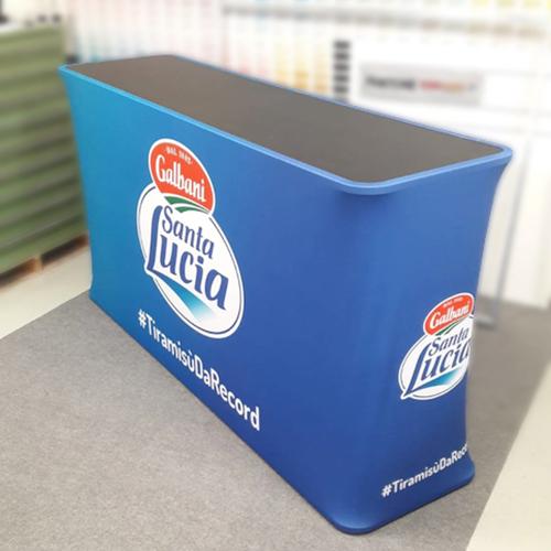 Desk Reception con stampa su tessuto