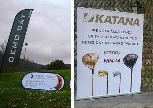 Espositori per Katana Golf Europe Tour 2017