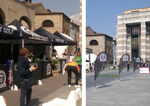 Espositori pubblicitari Street Golf a Brescia