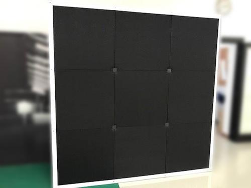 parete fonoassorbente con apertura pop-up