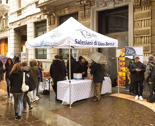 Gazebo pubblicitario a Brescia