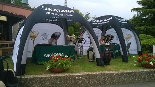 Gazebo Gonfiabili per tornei di golf