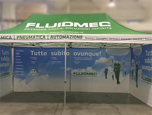 Gazebo personalizzato Fluidmec