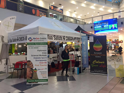 Gazebo per stand promozionali in centri commerciali