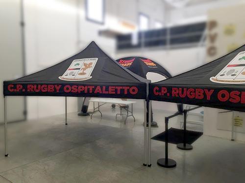 Gazebo per eventi di rugby