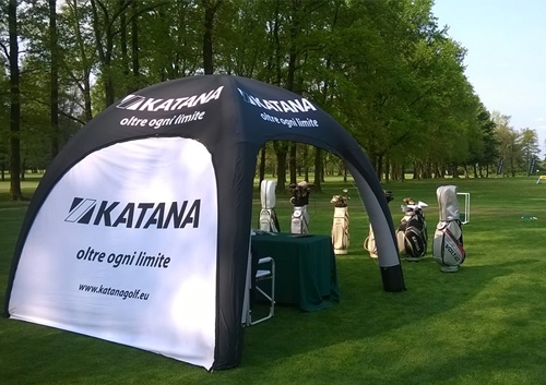 Gazebo gonfiabile al Golf Club Barlassina