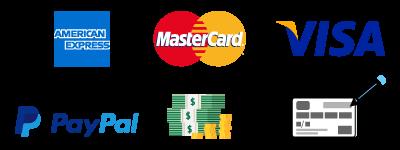 tipi di pagamento accettati loghi