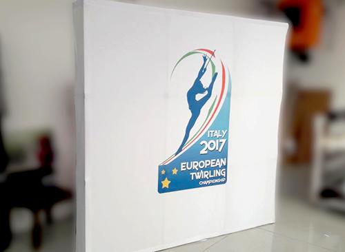 Fondale grafico per la promozione di eventi sportivi