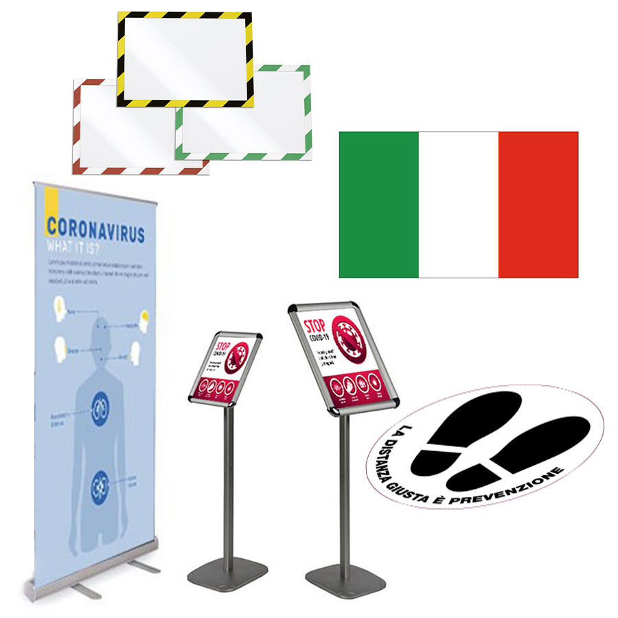segnaletica informativa cartelli e floor communication