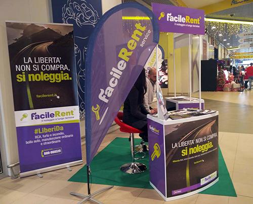 Stand promozionale aeroporto