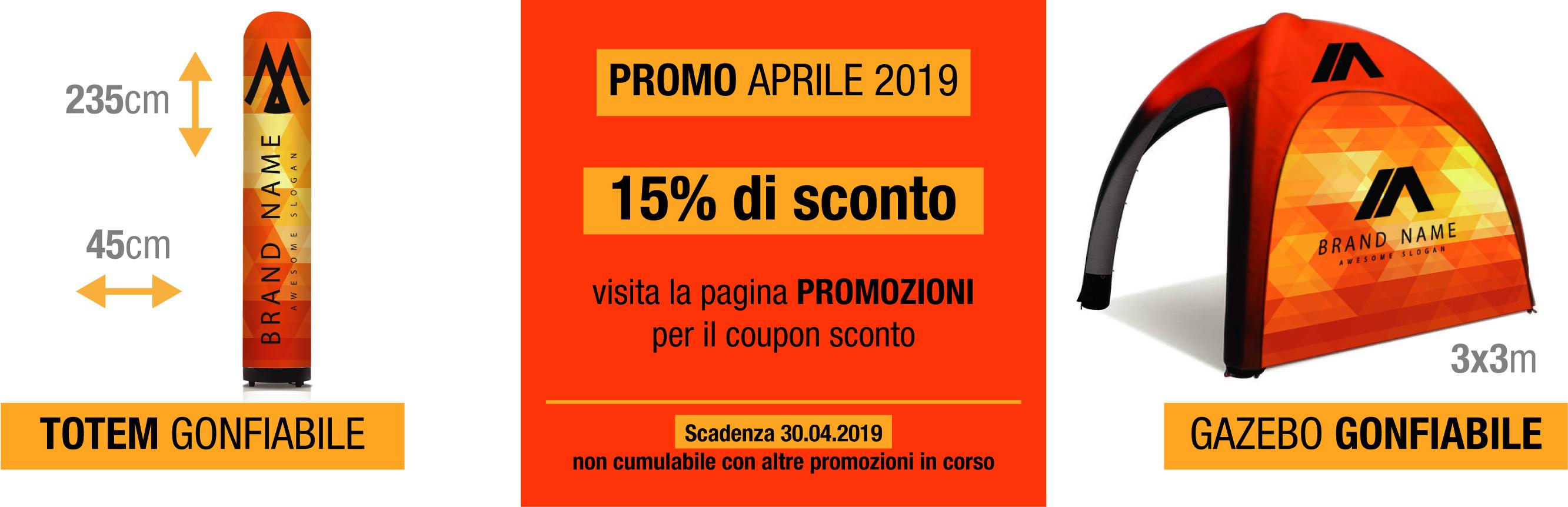 promozione gonfiabili aprile 2019