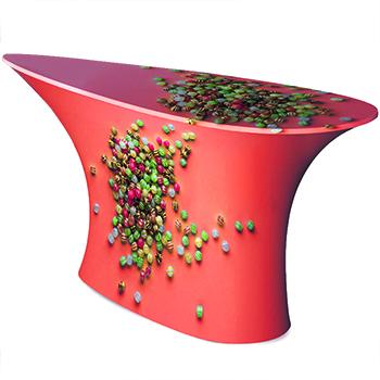 Tavolo a forma di goccia