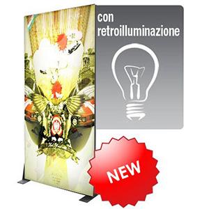 Nuovo Prodotto Fondale Grafico Textile Frame Lux