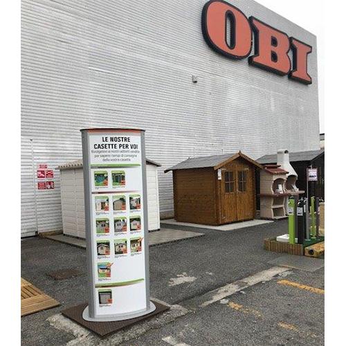 Totem pubblicitari personalizzati a brescia for Lastre bituminose obi
