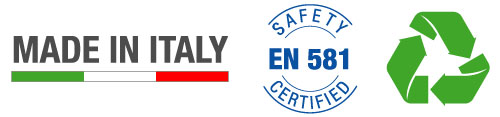 Made in Italy - EM 581 Safety Certified - EcoFriendly
